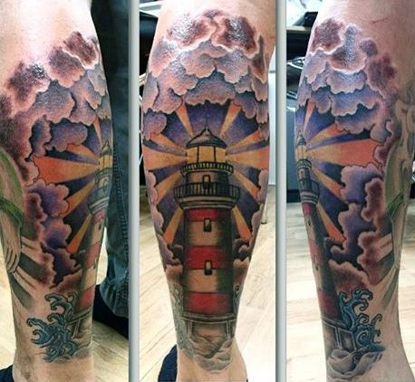 42741ca54 100 Lighthouse Tattoo Designs For Men - A Beacon Of Ideas | Tattoos ...