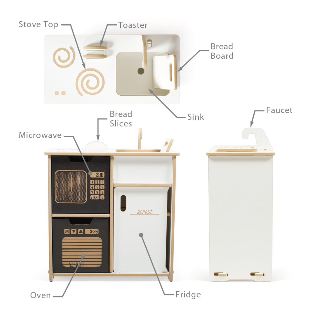 kids modern play kitchen  sprout  when i grow up  pinterest  - kids modern play kitchen  sprout