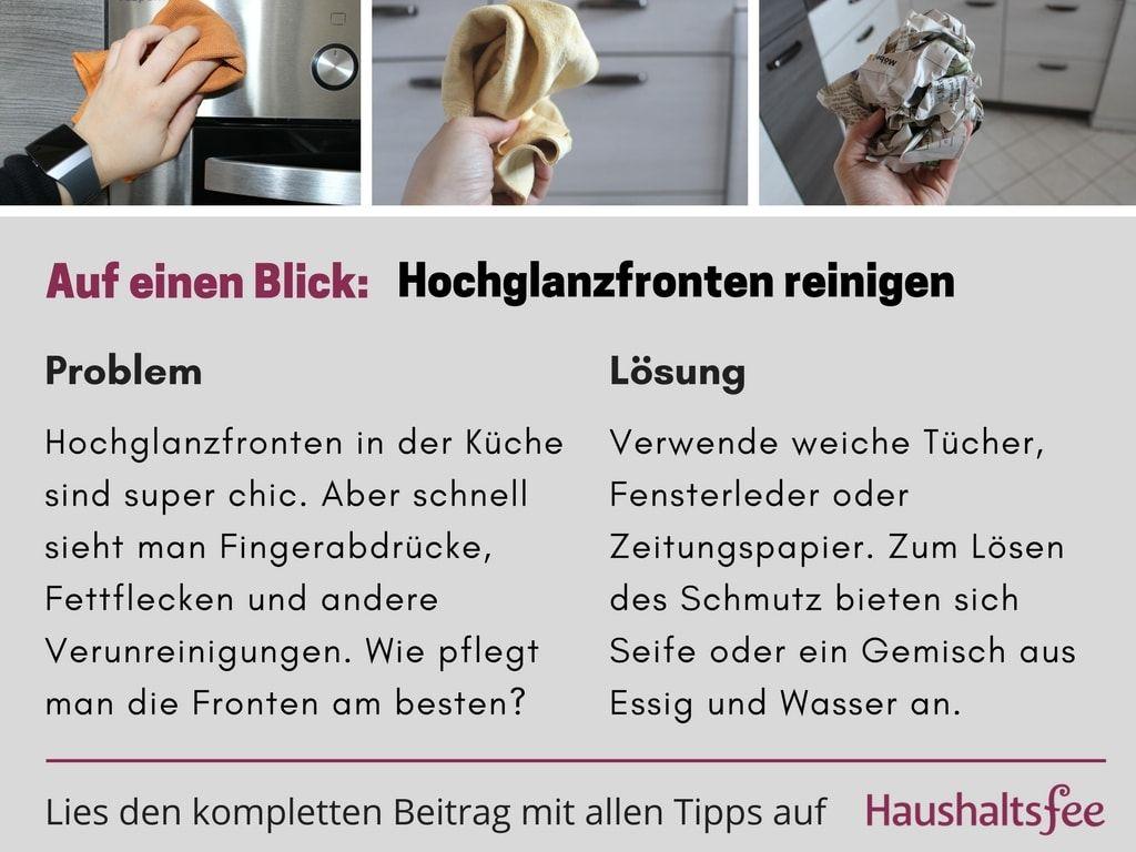 Hochglanzfronten reinigen in der Küche beste Tipps | Putzen ...
