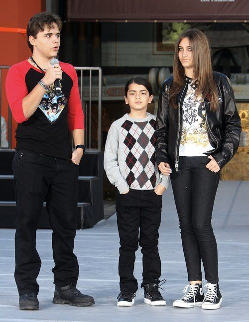 Paris, Prince & Blanket Jackson at Michael Jackson immortalized  hand and footprint ceremony in Hollywood