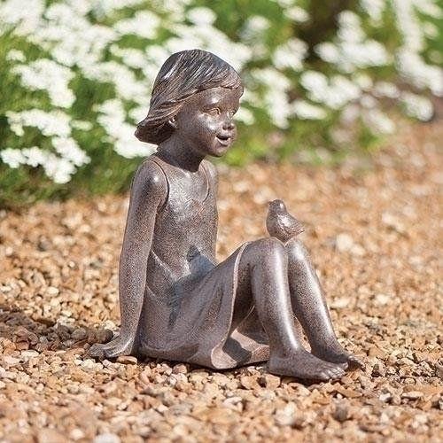 Bronze Look Girl Roman Bronze Look Girl Sitting With 640 x 480