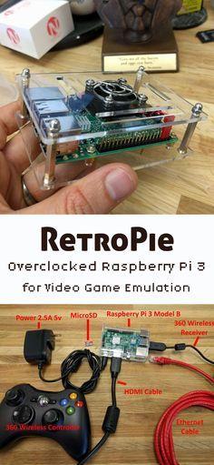 RetroPie - Overclocked Raspberry Pi 3 for Video Game