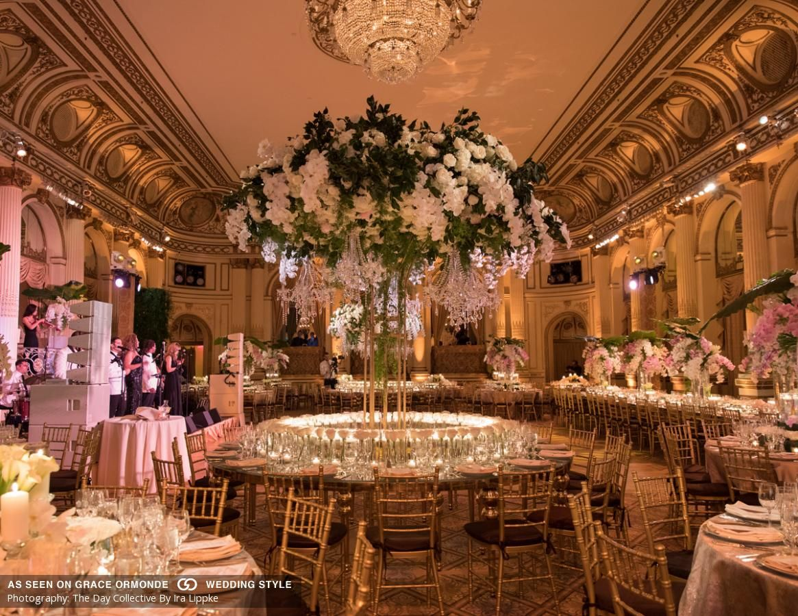 A Classically Elegant Wedding At The Plaza Hotel In New York Ny Wedding Reception Decorations Wedding Gallery Reception Decorations