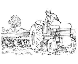 tractor pulling coloring pages | paint | pinterest | tractor - John Deere Combine Coloring Pages
