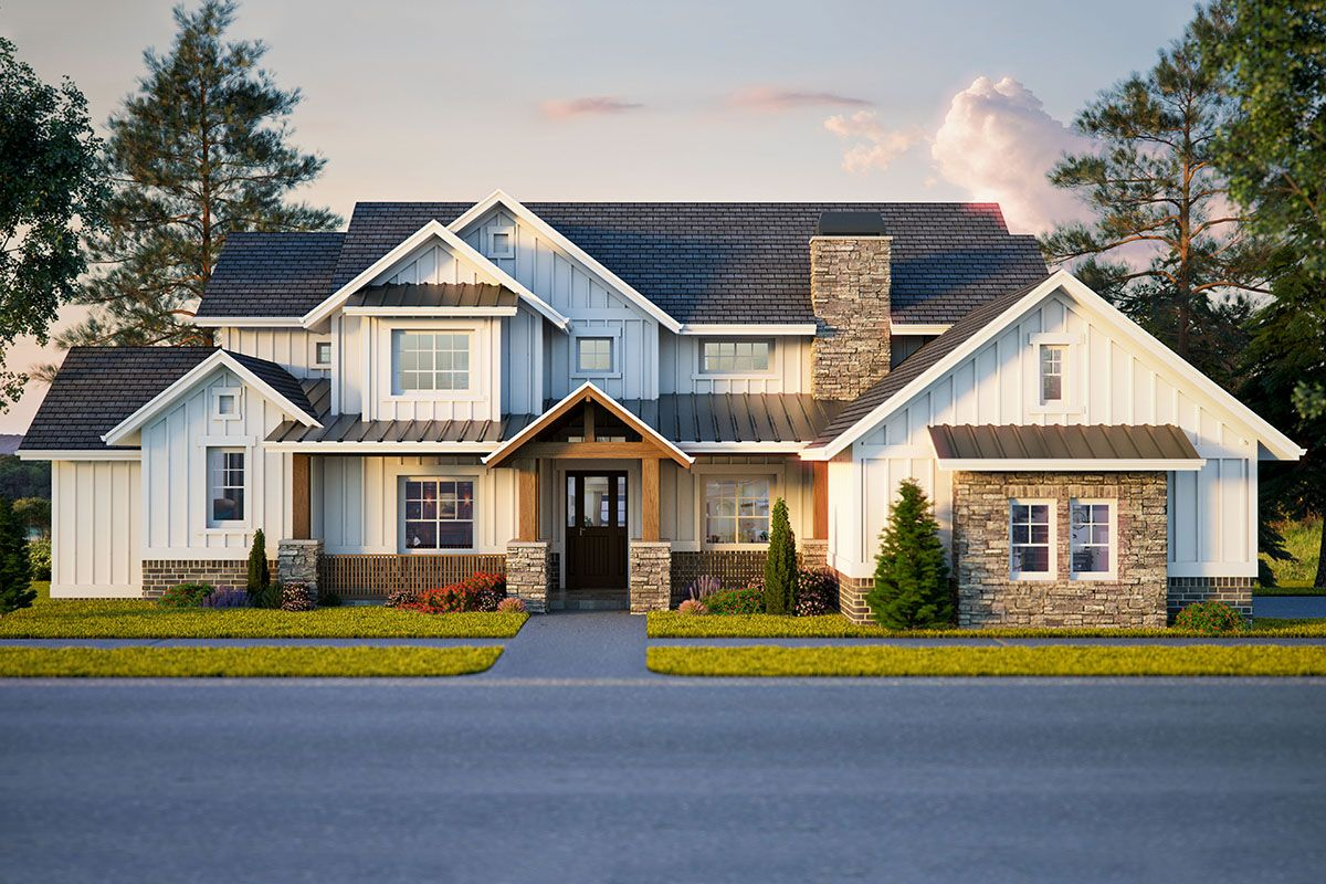 Beautiful New American Farmhouse with MainLevel Master
