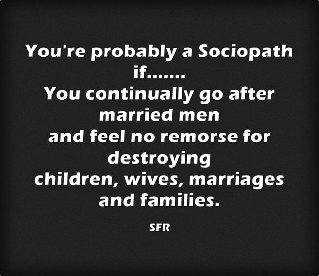 married to a sociopath