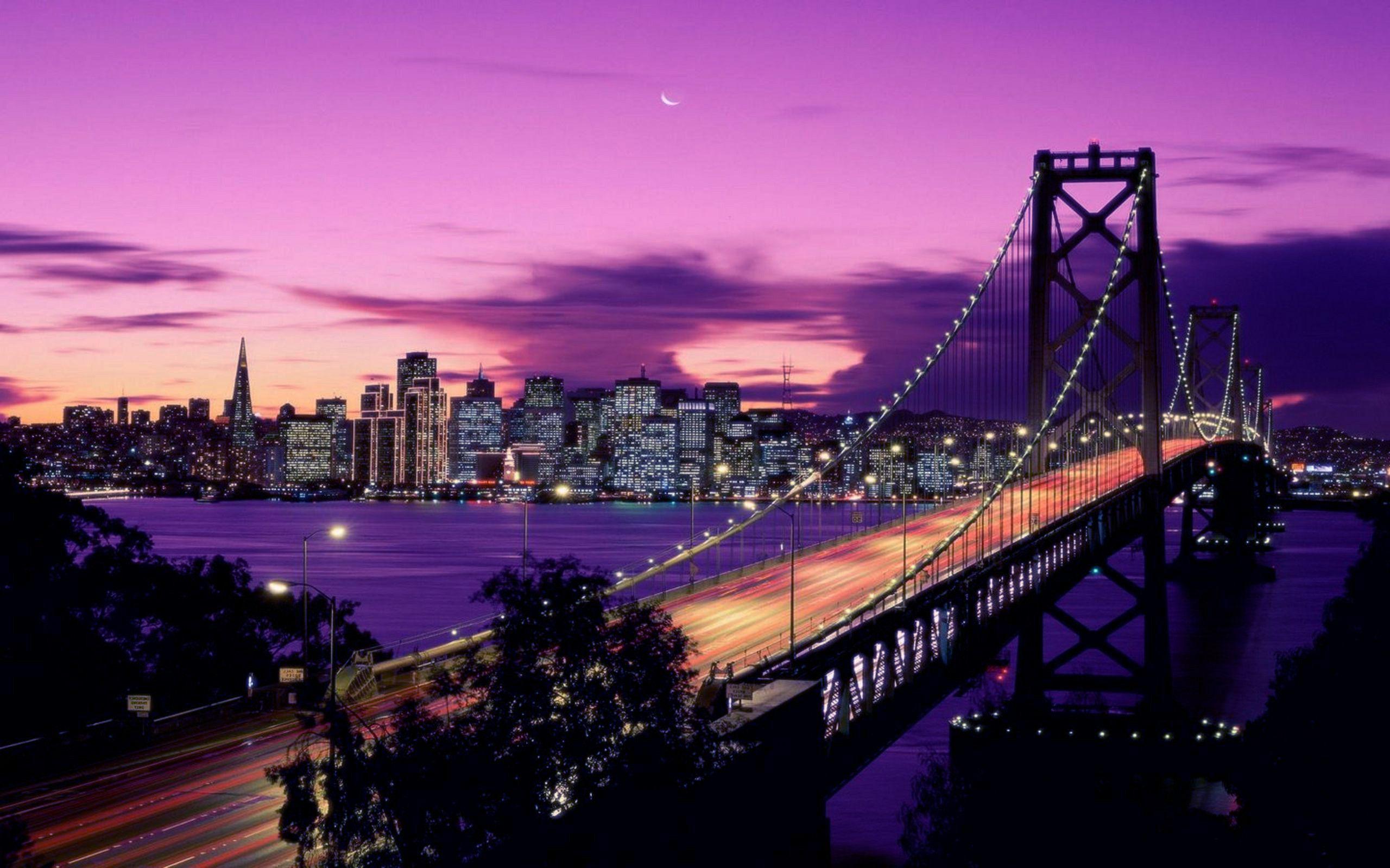 Обои калифорния, bay bridge, san francisco, california. Города foto 18