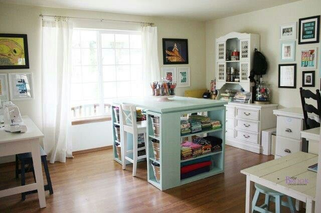 Pin by Helena Gibson on craft room | Pinterest | Craft room design ...