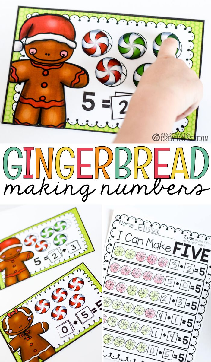 making numbers- many ways to make five!