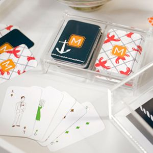 Monogrammed Double Deck of Playing Cards, with pattern