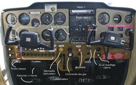 Tableau de bord _ Cessna 150