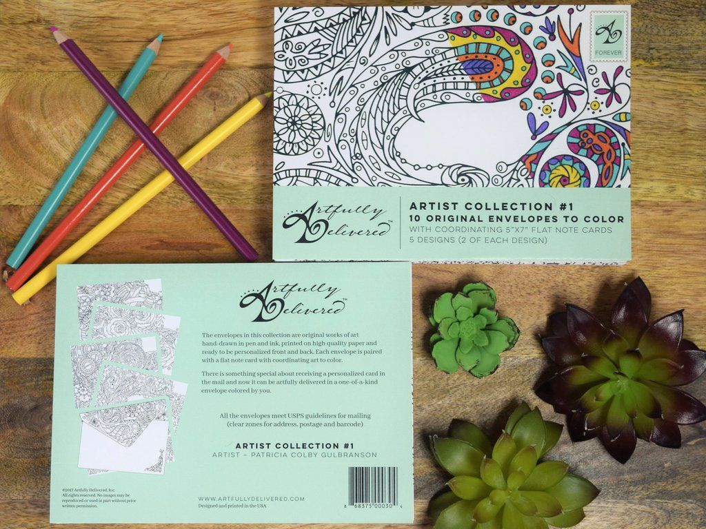 Artist collection envelopes snail mail and artist