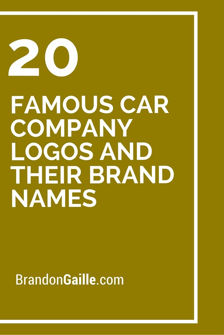 famous car company logos and their brand names logos