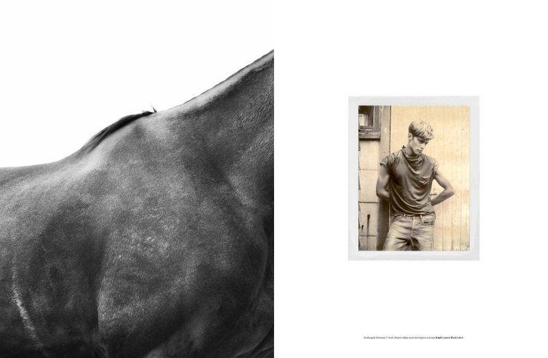 Bastiaan Van Gaalen, Florian Van Bael & Gen Huismans by Philippe Vogelenzang in Ralph Lauren for LOfficiel Hommes NL