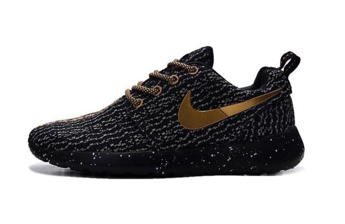 Custom Black & Gold Roshe x Yeezy | Sick Shoes | Roshe run