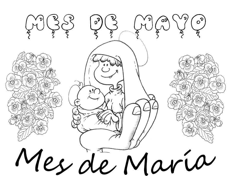 Blog Del Profesorado De Religion Catolica Dibujos De La Virgen Maria Mayo Mes De Maria Ensenanza Religiosa Mayo Mes De Maria Virgen Maria Para Ninos