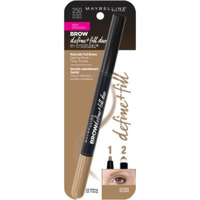 Maybelline new york eyestudio brow define fill duo pencil