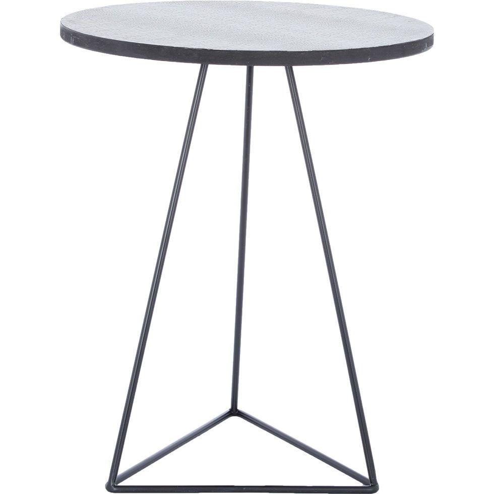 Antique Zinc Snakeskin Effect Side Table 58x46cm - Living Room ...