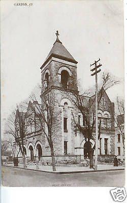 CANTON OH POST OFFICE 1909 POSTCARD P/C