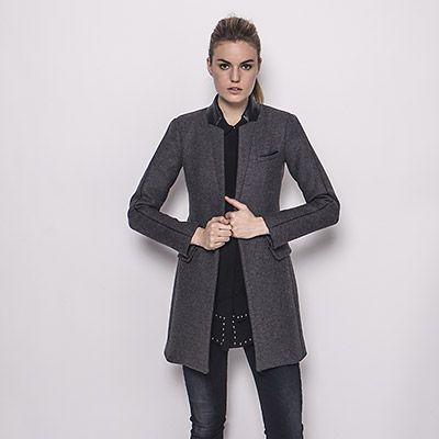manteau gris pour femme ikks wish list manteau gris manteau ikks et manteau gris femme. Black Bedroom Furniture Sets. Home Design Ideas