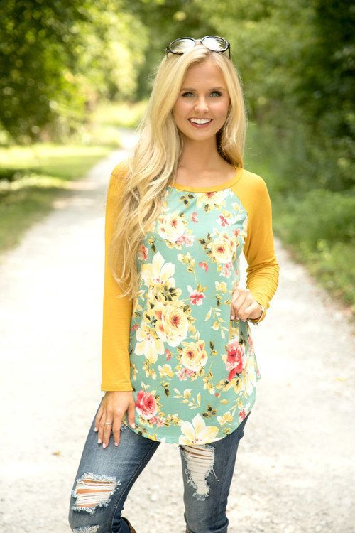 Back To Better Days Floral Blouse Mustard - The Pink Lily