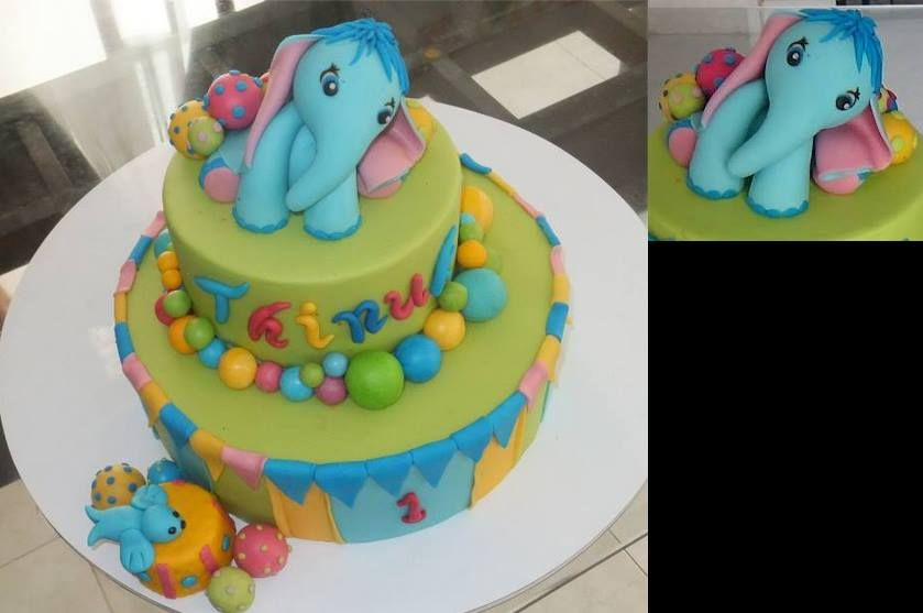 My sons First Birthday cake My Fondant Cakes and Cake Toppers