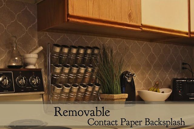 Charmant Removable Contact Paper Backsplash    For Just $3