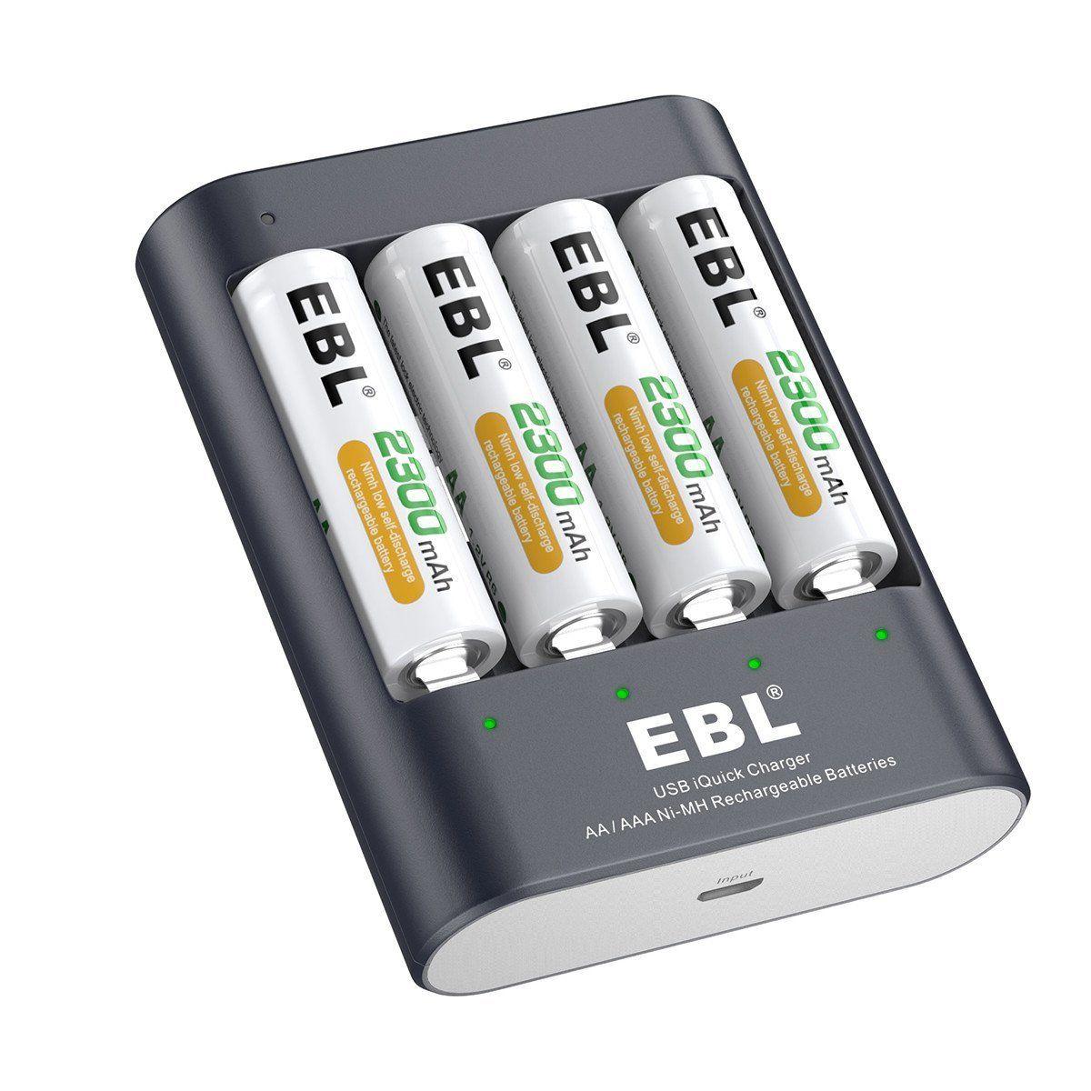 Ebl Aaa Batteries Review Rechargeable Batteries Usb Design Unique Usb