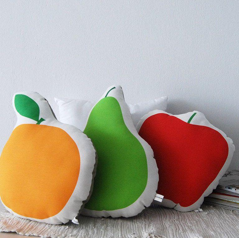 Three fruit pillows, soft sofa cushion
