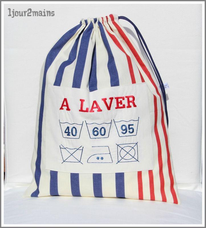 sac linge rayures sacs divers sac sac linge sale. Black Bedroom Furniture Sets. Home Design Ideas