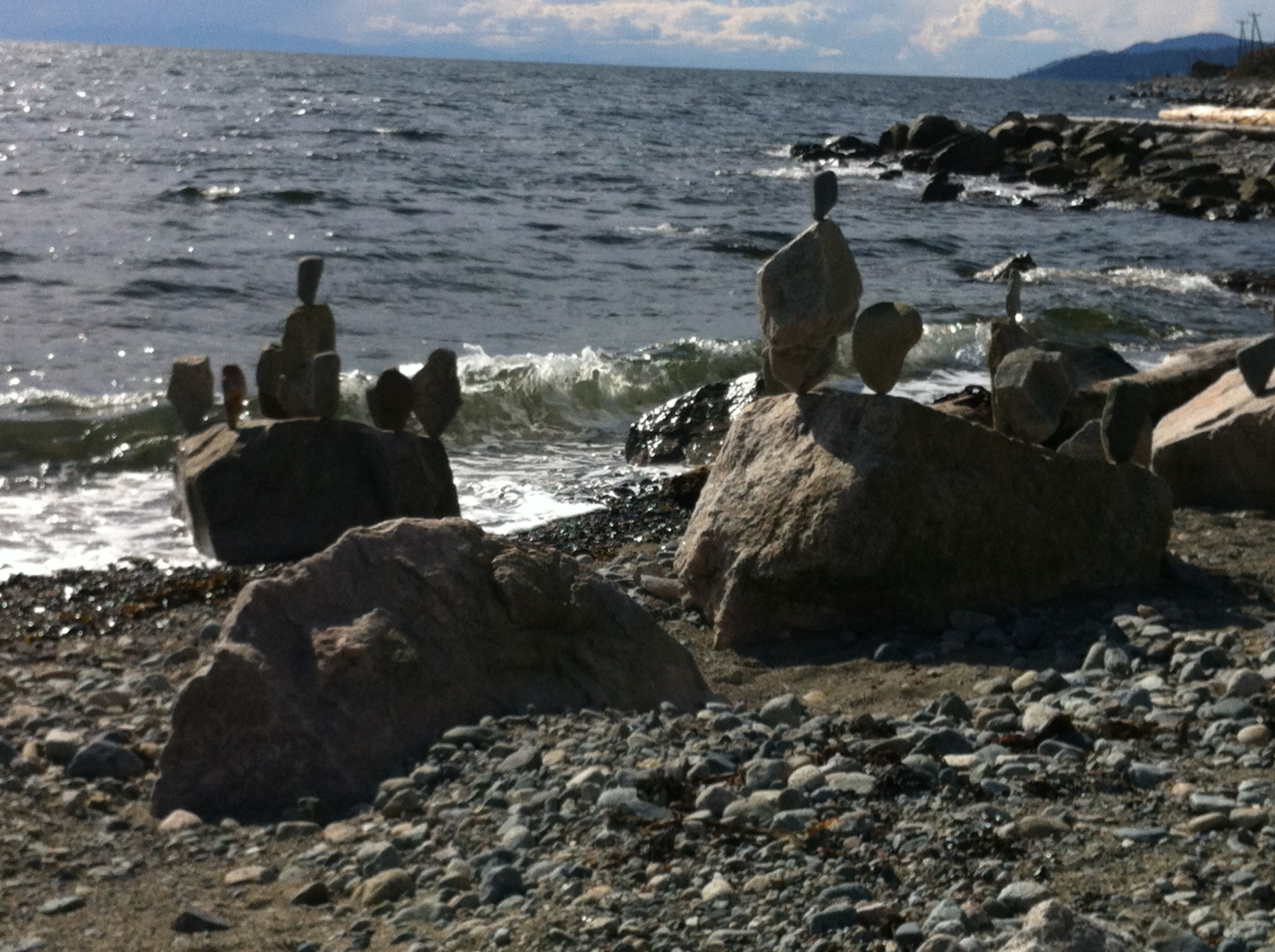 Anonymous Art, West Vancouver beach