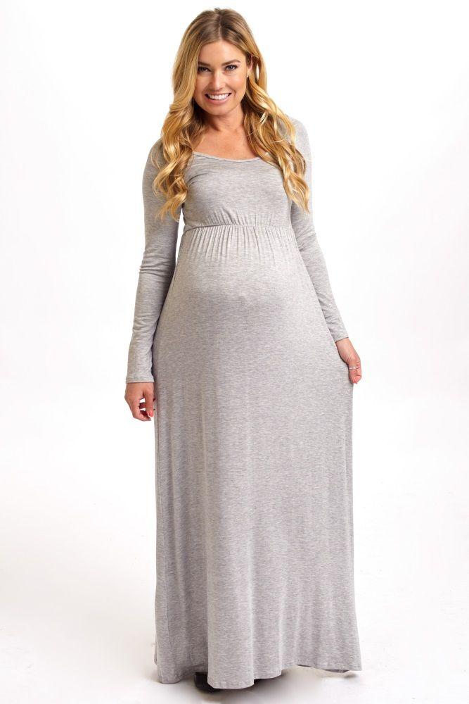long sleeve maternity maxi dress | Gommap Blog