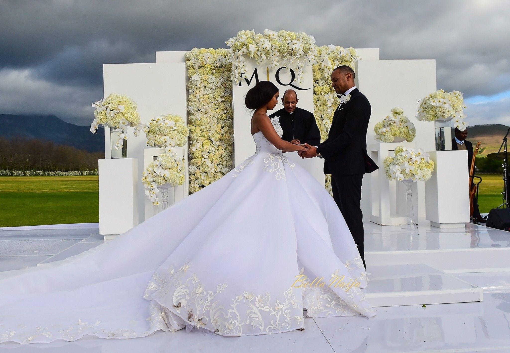 The beautiful Minnie Dlamini married her sweetheart Quinton Jones recently. Their wedding ceremony planned…   Church wedding dress, Fairytale wedding, Wedding looks