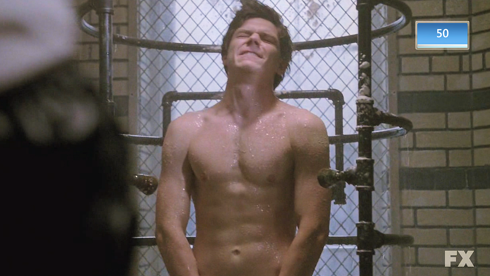 Evan peters shirtless