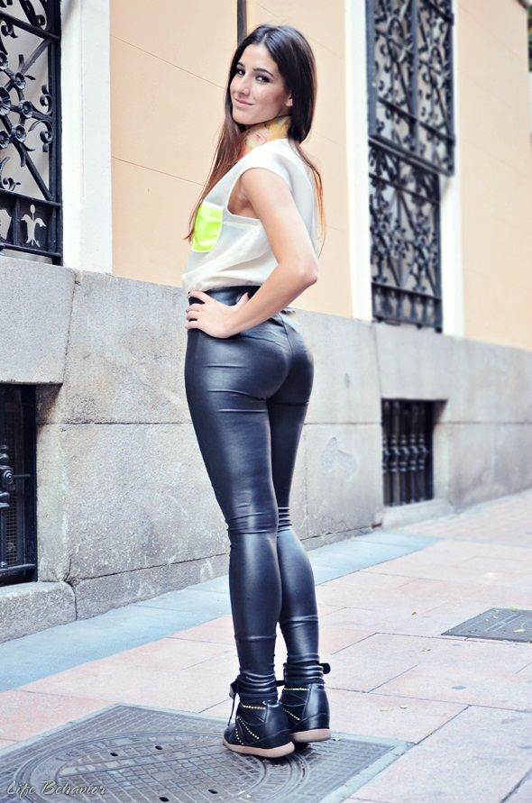 Girls in leather pants porn