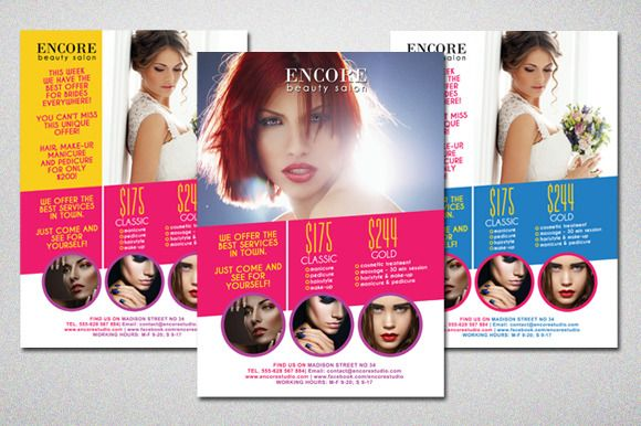 Beauty Salon Colorful Flyer By Dianaghiba On Creative Market