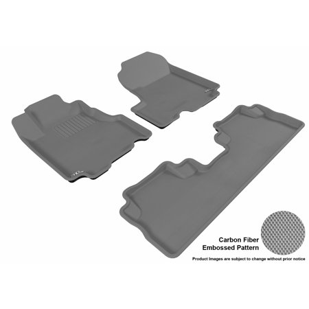 3d Maxpider 2007 2011 Honda Cr V Front Second Row Set All Weather Floor Liners In Gray With Carbon Fiber Look In 2019 Toyota Prius Honda Cr Toyota