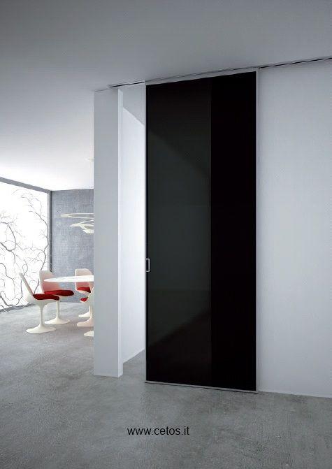 Porta tutto vetro con profili in alluminio e guida for Programmi per interior design