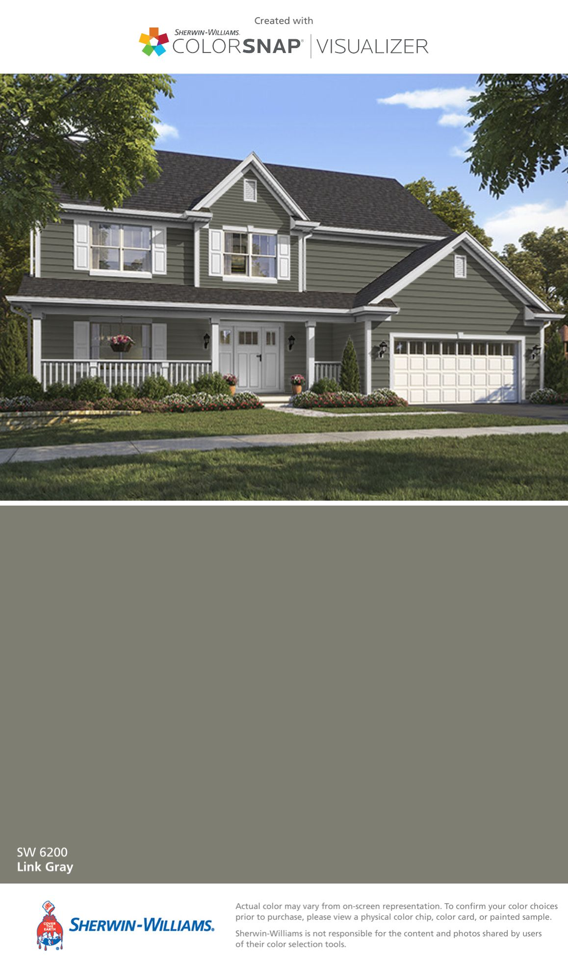 I Found This Color With Colorsnap Visualizer For Iphone By Sherwin Williams Link Gray Sw 6200