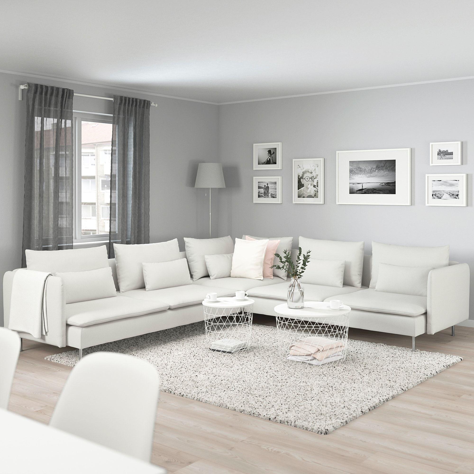 Soderhamn Sectional 5 Seat Finnsta White Ikea Idee Arredamento Soggiorno Salotti Accoglienti Arredamento Soggiorno