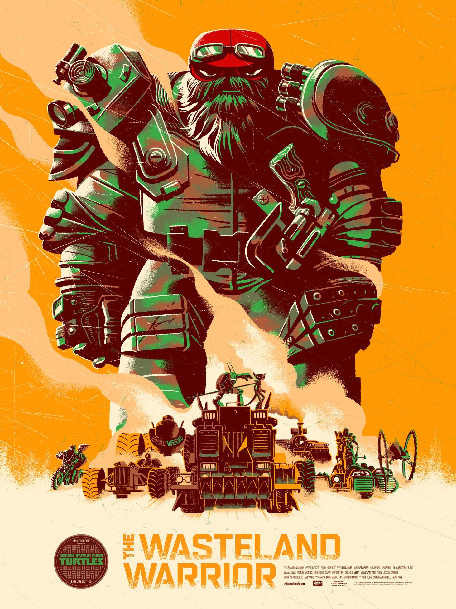 Teenage Mutant Ninja Turtles Mondo Print On Behance Wasteland Warrior Ninja Turtles Poster Prints