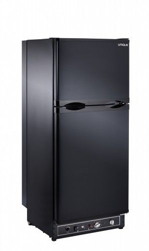 Unique 6 4 Cu Ft Propane Fridge Dual Power Propane 110v High End Interior Ugp6c B Black Propane Refrigerators Refrigerator Refrigerator Freezer