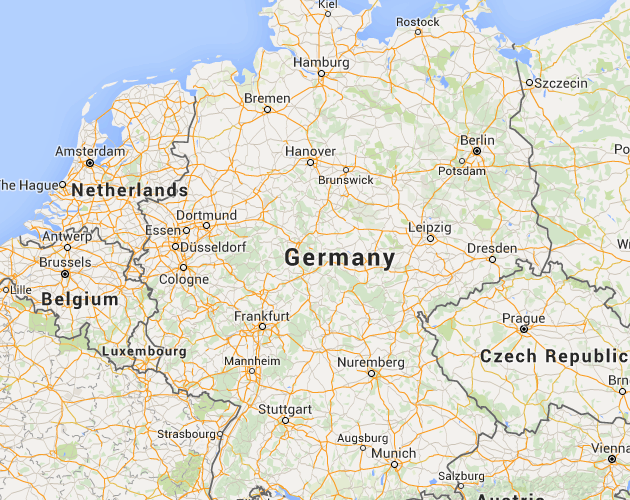 Google Map of Germany, Germany Satellite Map | Germany Map ...
