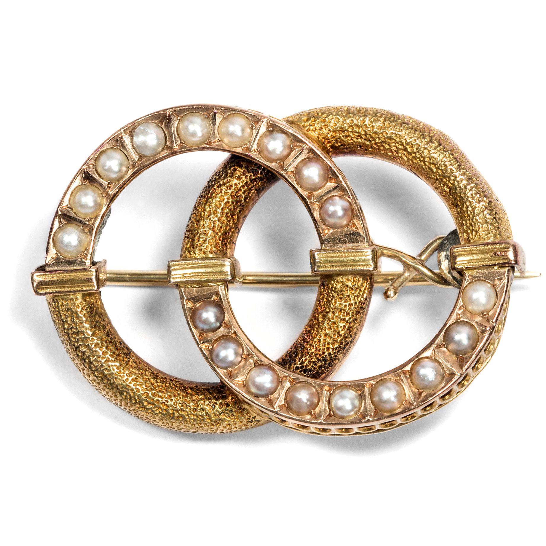 aus zwei wird eins romantische brosche aus gold victorian jewellery antiker schmuck des. Black Bedroom Furniture Sets. Home Design Ideas