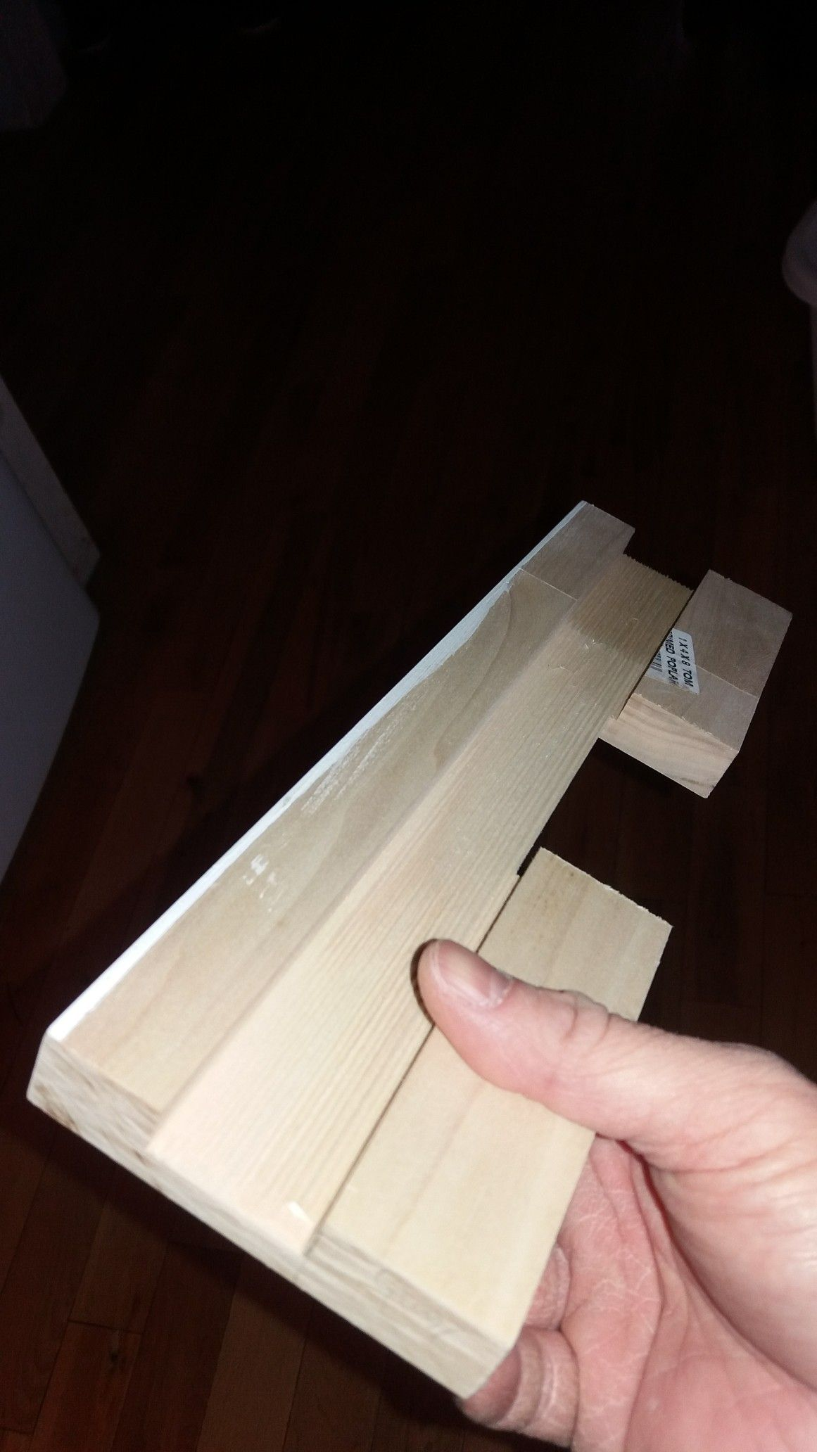 Backside of hinge mortise template for existing door jamb ...