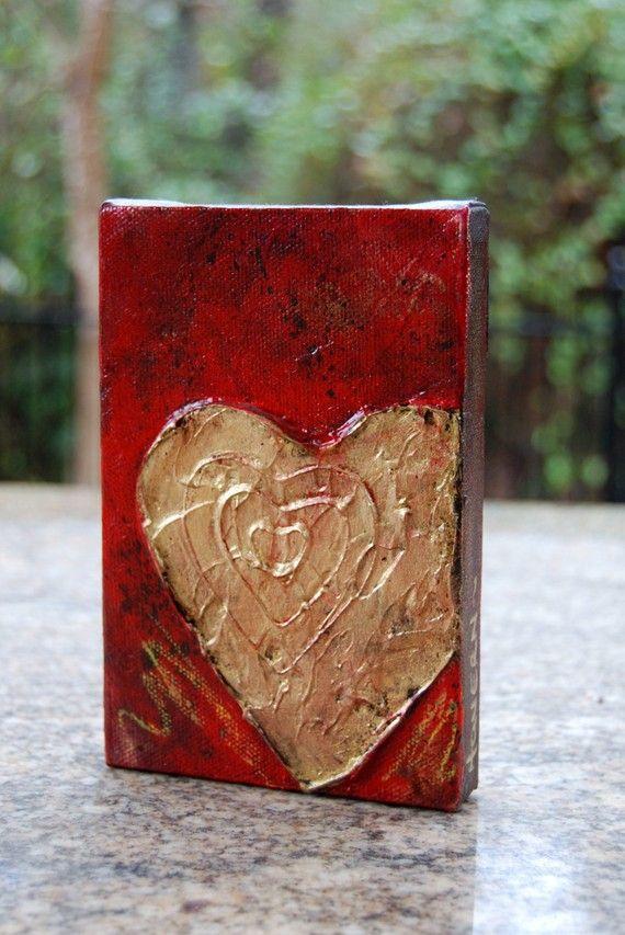 heart art original painting hearts pinterest heart art art