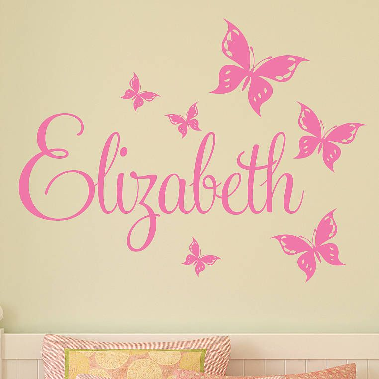 Wonderful Personalised Butterfly Wall Stickers