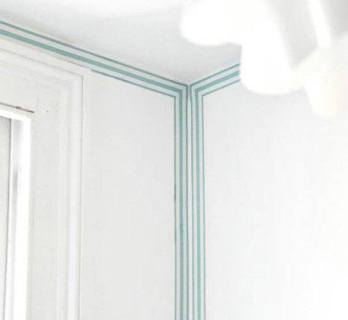 I Love These Striped Wallpaper Borders That Make It Look Like You