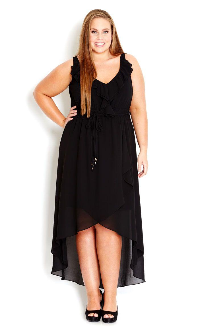 799216fd12a97 City Chic - PRETTY FRILL MAXI DRESS - Women s Plus Size Fashion ...