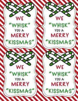 photo about We Whisk You a Merry Kissmas Printable Tag referred to as Family vacation Reward Tags FREEBIE Xmas Merry kissmas